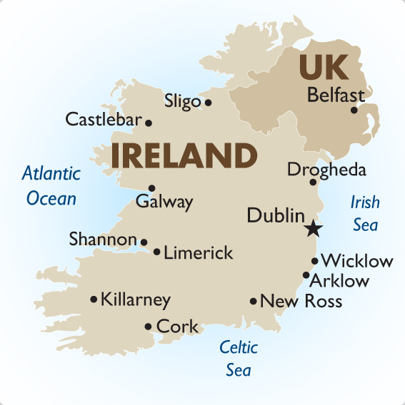 Country Of Ireland Map.Ireland Geography Maps Goway Travel