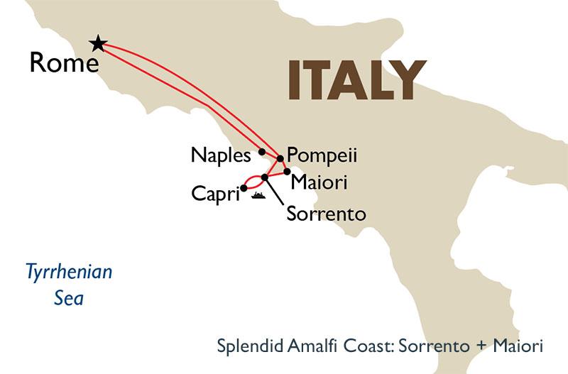 Maiori Italy Map.Amalfi Coast Sorrento Amalfi Coast Italy Tours Goway Travel