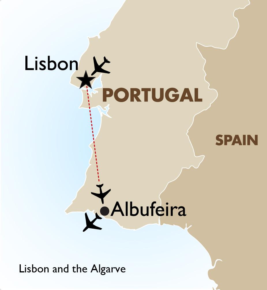 Lisbon The Algarve Portugal Tours Goway Travel - Portugal map lisbon to algarve
