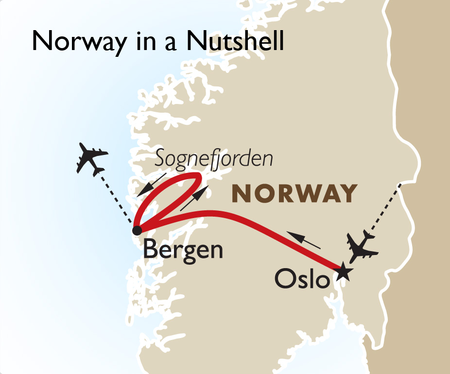 Norway In A Nutshell Private Touring Norway Tours Goway Travel - Norway nutshell map