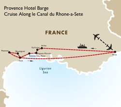 Provence Hotel Barge Cruise Along le Canal du Rhone-a-Sete
