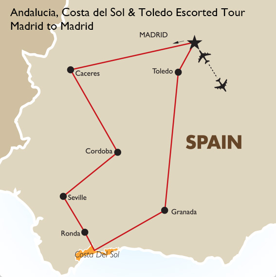 Andalusia Costa Del Sol Toledo Spain Vacation Goway