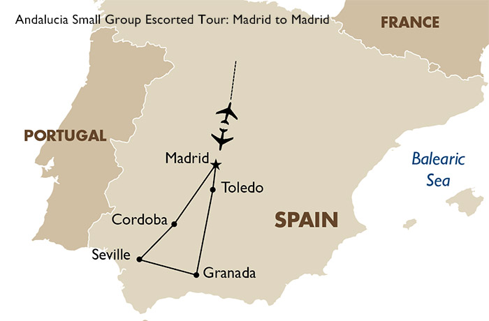 Small Map Of Spain.Andalucia Small Group Spain Tours Goway Travel