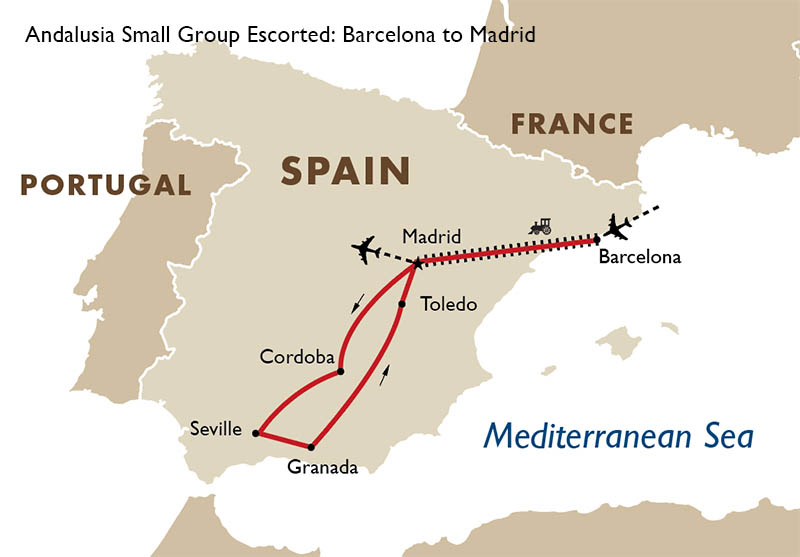 Small Map Of Spain.Andalusia Small Group Spain Tours Goway Travel