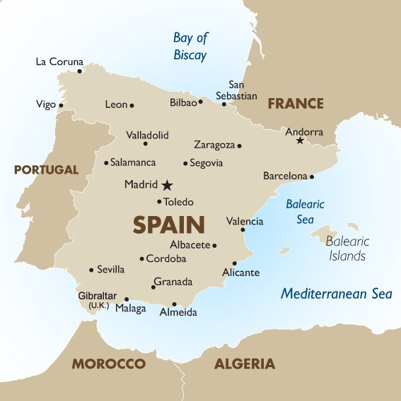 Canary Islands In Spain Map