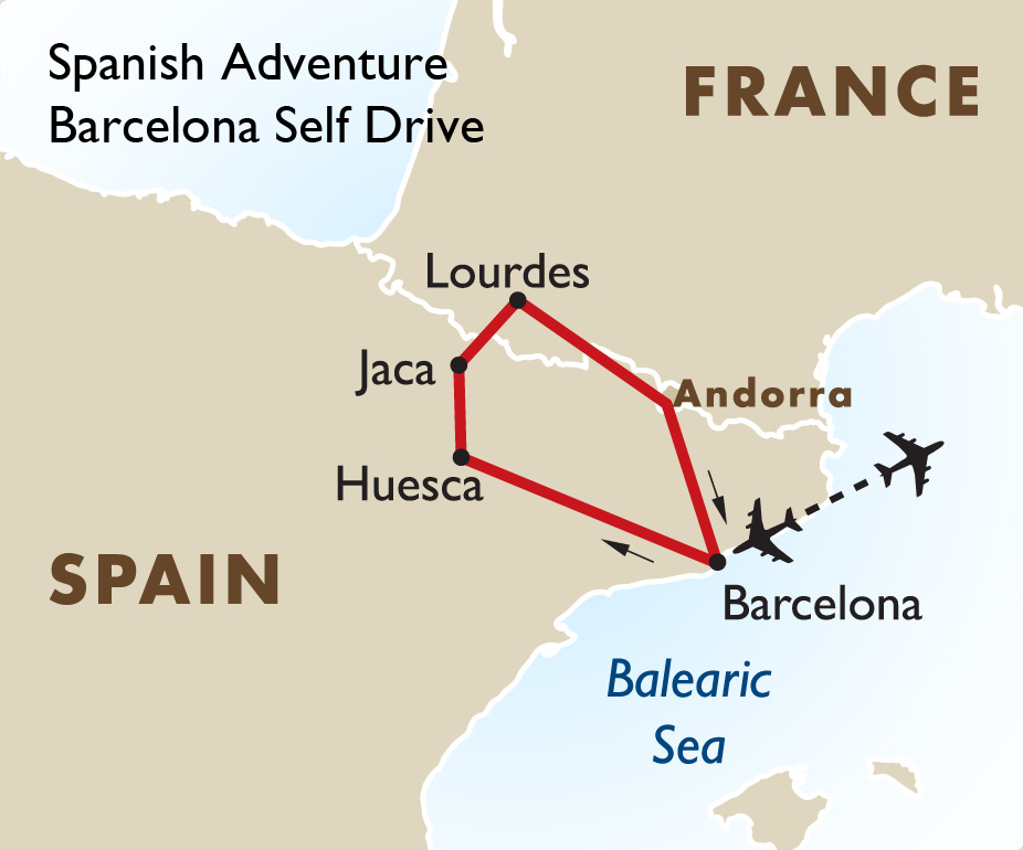 Map Of Spain France And Andorra.Spanish Adventure Self Drive Spain Holidays Goway Travel