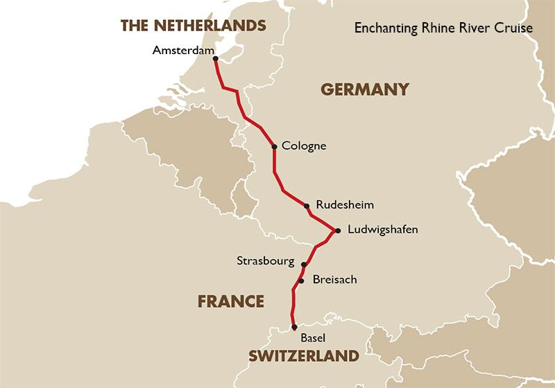 Breisach Germany Map.Enchanting Rhine European River Cruises Goway Travel