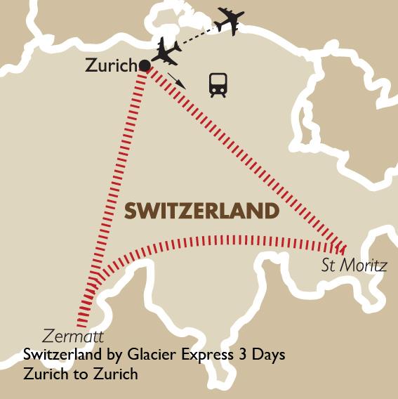 Switzerland By Glacier Express 3 Days Zurich To Zurich