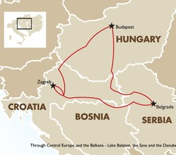 Cruise through Central Europe, the Balkans, Lake Balaton, the Sava and the Danube
