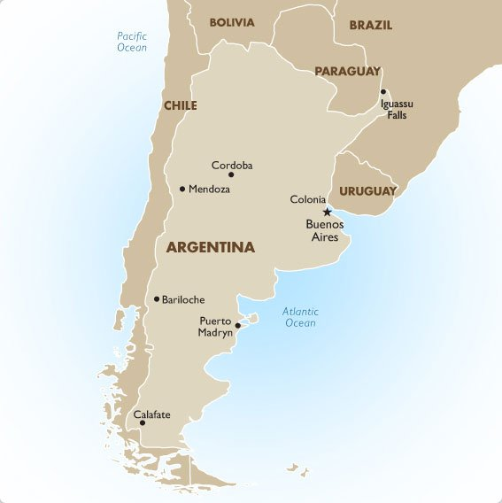 Argentina Geography And Maps Goway Travel - Argentina map cordoba