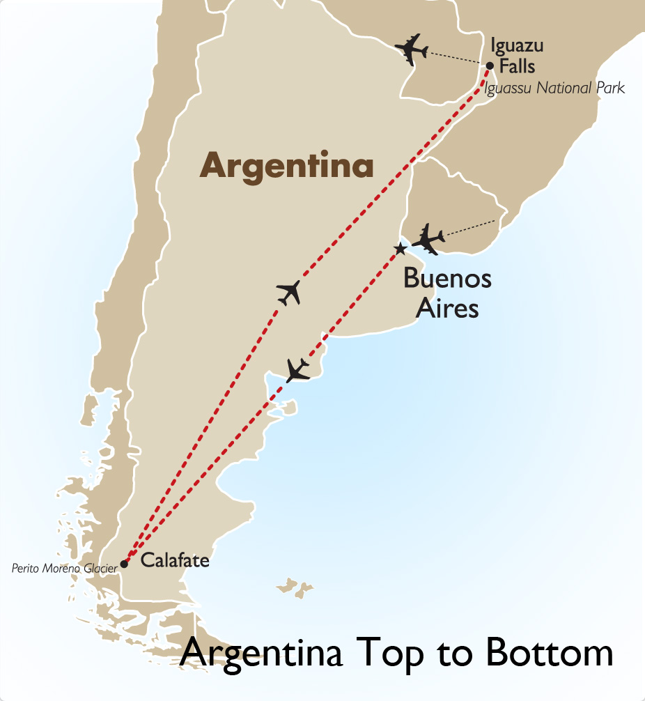 Argentina Top To Bottom Argentina Tours Goway Travel - Map argentina national parks