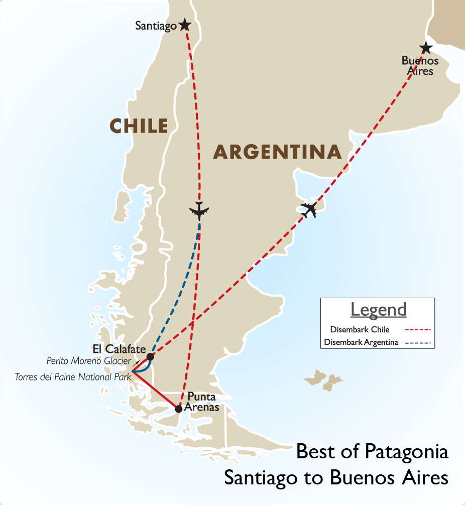 508e4c66776de Best of Patagonia  Santiago to Buenos Aires