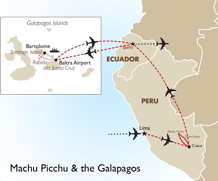 Machu Picchu & Galapagos Islands South America Tours