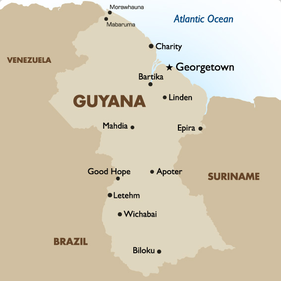 guyana travel map image collections