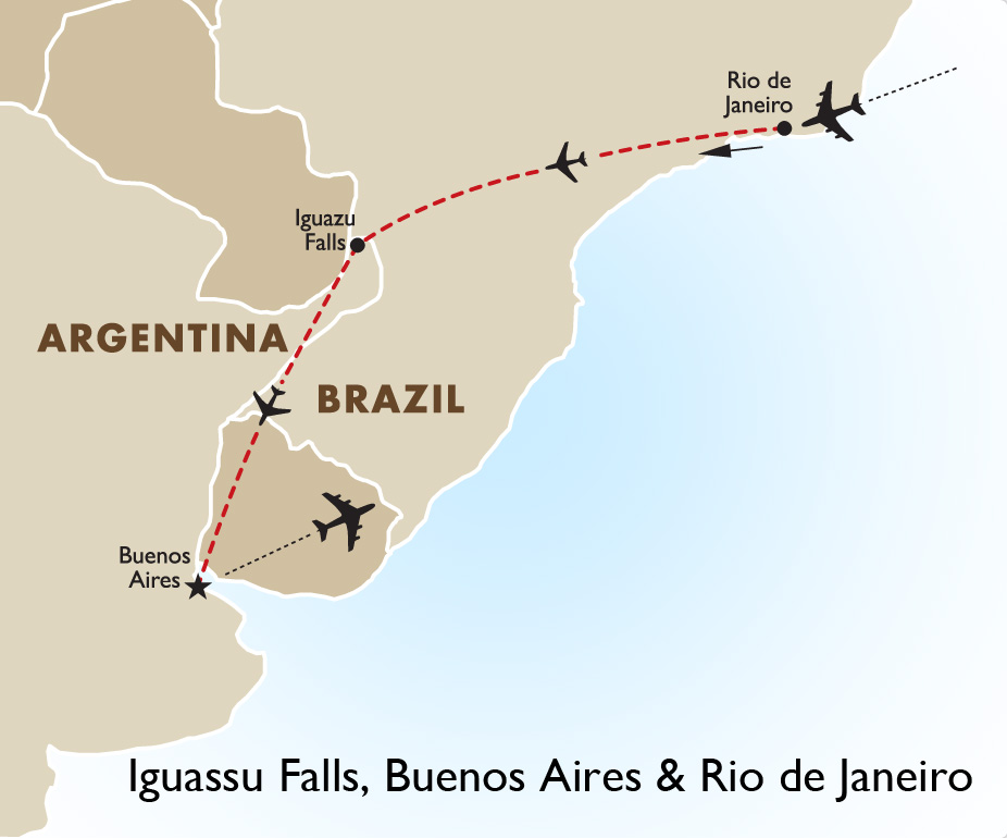 Brazil Argentina Tours Iguassu Falls Goway - Where is buenos aires