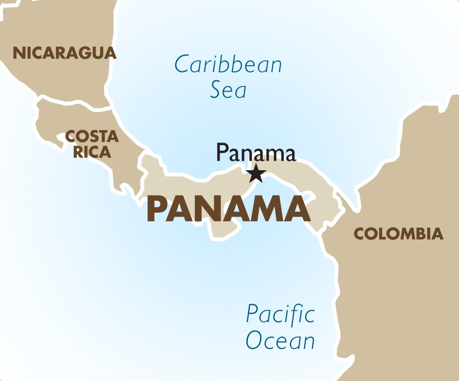 Panama geography and maps goway travel panama destination map gumiabroncs Image collections