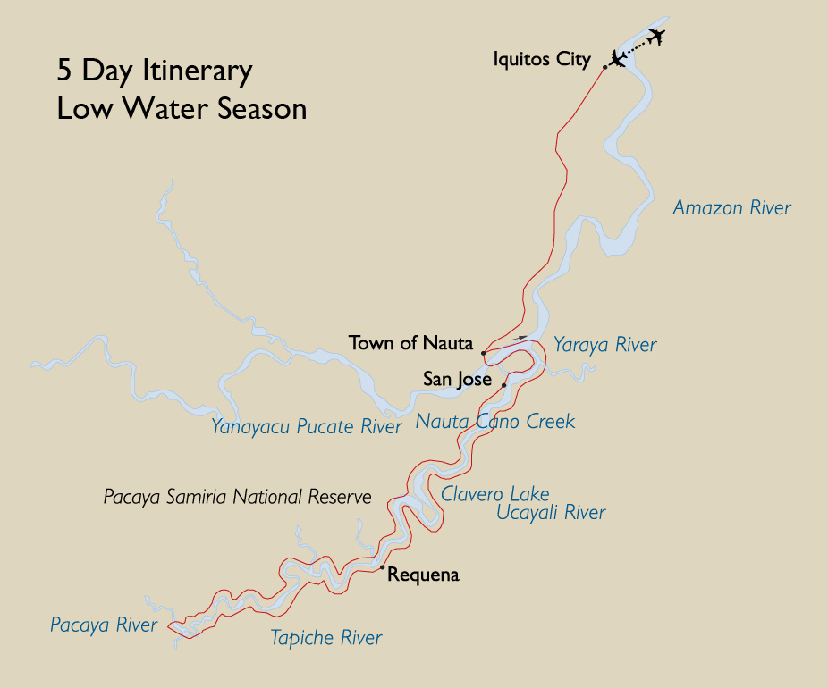 5 Day Itinerary Low Water