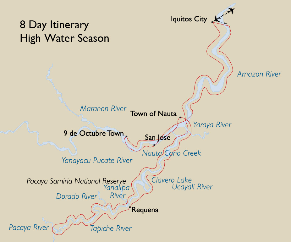 8 Day Itinerary High Water