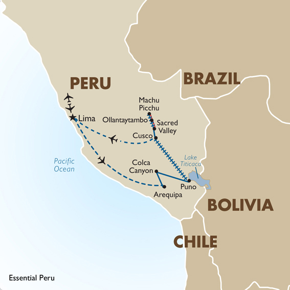 Peru Tour Packages Essential Peru – Peru Tourist Attractions Map