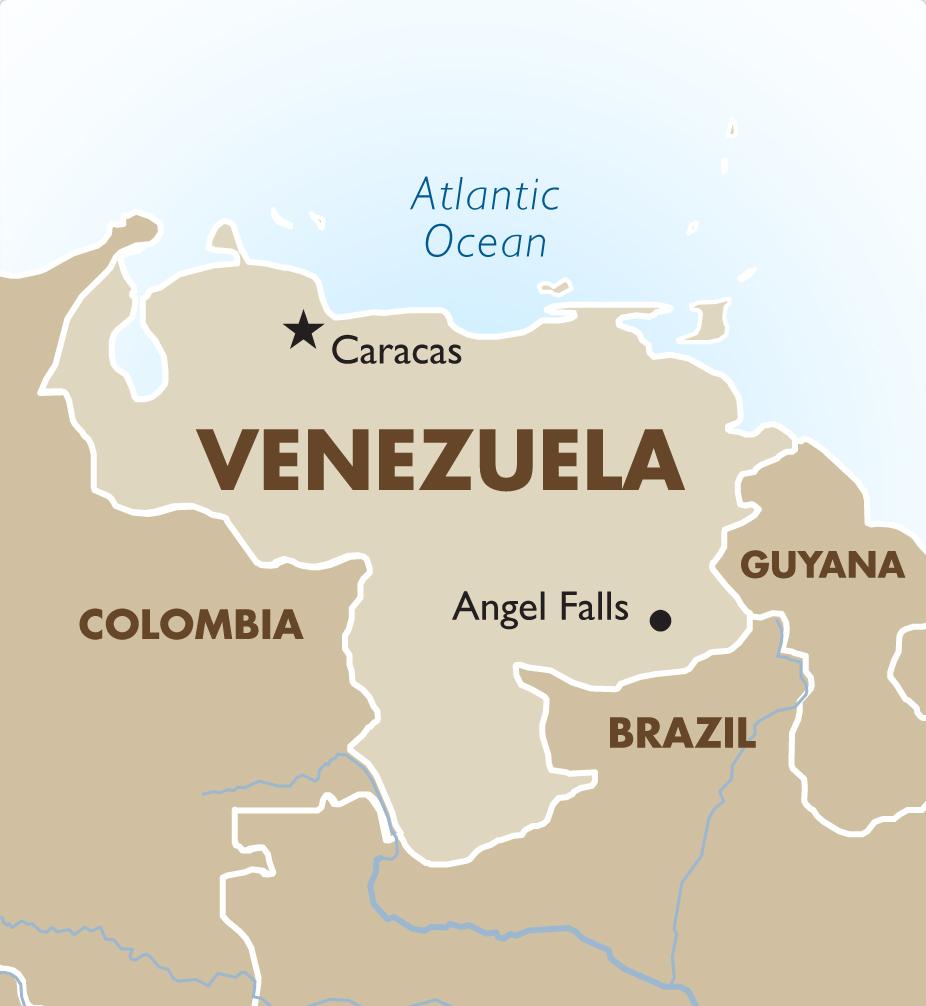 Venezuela Geography And Maps Goway Travel - Venezuela map