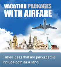 Travel ideas that are packaged to include both air and land.