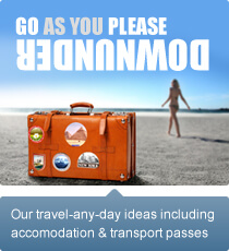 Our travel-any-day ideas including accommodation and transport prices
