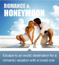 Escape to an exotic destination for a romantic vacation with a loved one.