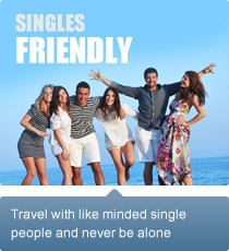 Travel with like minded single people and never be alone.